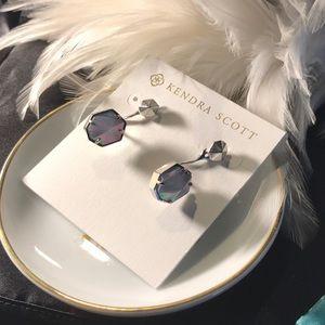 Kendra Scott earrings silver nice! EUC